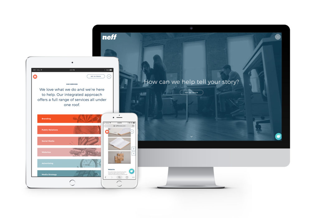 An update responsive website for the Neff rebrand
