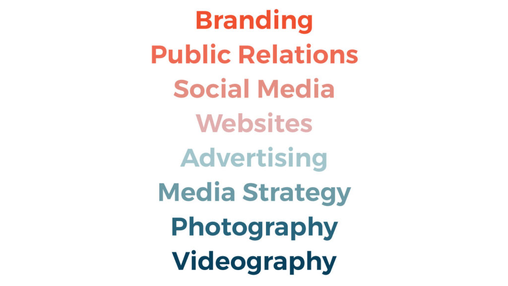 Neff services include branding, Public relations, social media, websites, advertising, media strategy, photography and videography.