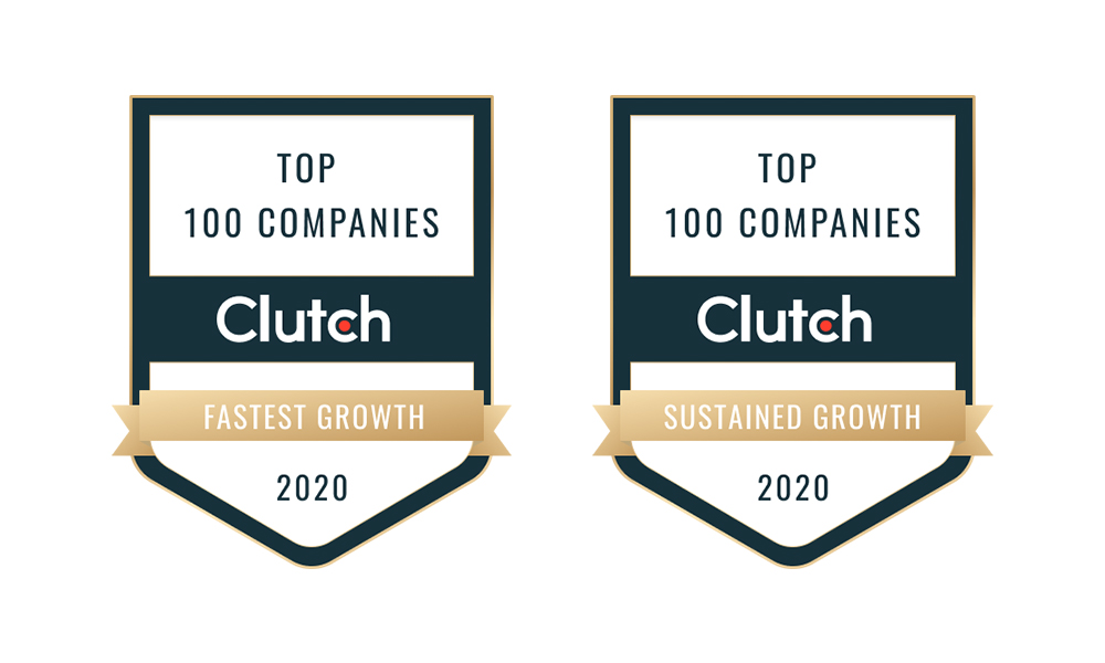 clutch top 100 fastest growth and sustained growth badges