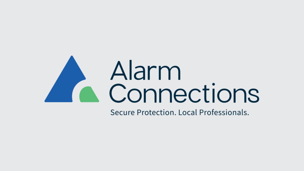The logo for Alarm Connections demonstrates the use of sans serif fonts.
